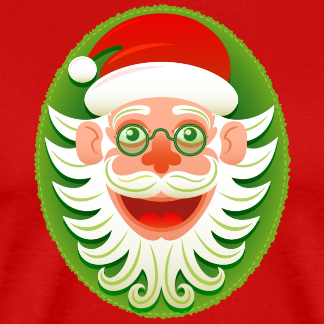 Portrait of Santa Claus smiling in hipster style