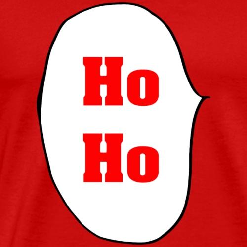 Ho Ho bulles de père Noël Rouge cadeau Lach - T-shirt Premium Homme