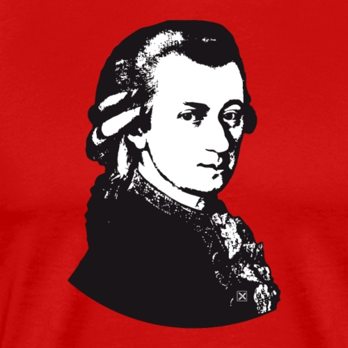 Wolfgang Amadeus Mozart - Camiseta premium hombre