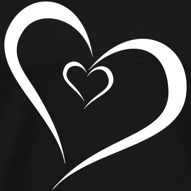 Heizfrosch Shop Zwei Herzen Ineinander Männer Premium T Shirt