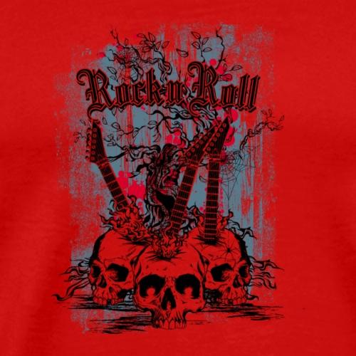 rock n roll skulls - Mannen Premium T-shirt