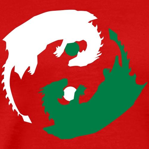 Ying-Yang Dragons - Männer Premium T-Shirt
