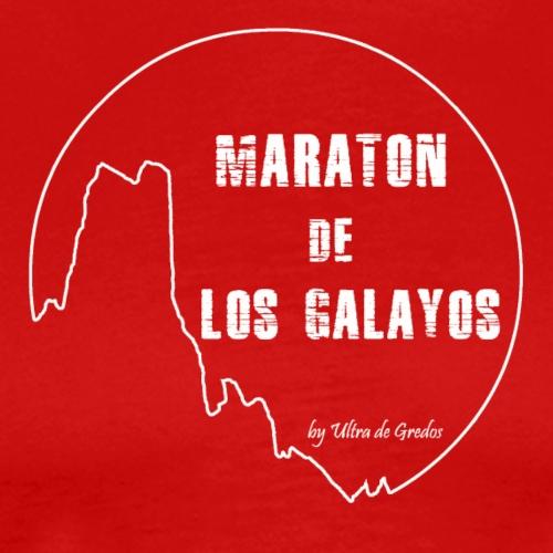 Logo Maratón de Los Galayos blanco - Camiseta premium hombre