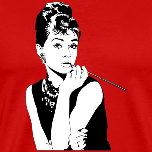 audrey-hepburn-154881_1280 - Premium-T-shirt herr