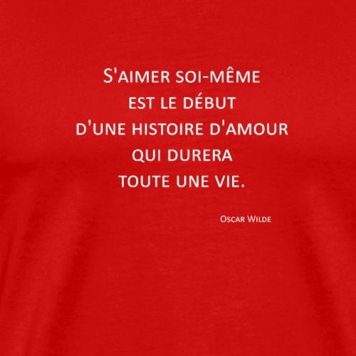S'aimer - Oscar Wilde - T-shirt Premium Homme