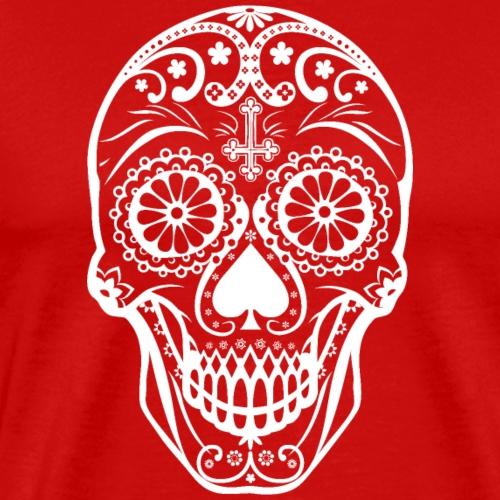 Skull white - Männer Premium T-Shirt