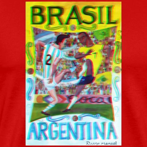 brasil argentina - Camiseta premium hombre