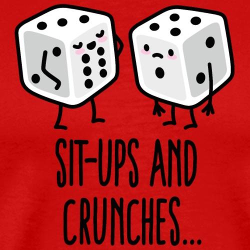 Sit-ups and Crunches Sixpack Würfel Bodybuilding - Mannen Premium T-shirt