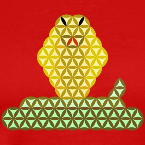 The Snake of Life - Sacred Animals, C01Y/G - Men's Premium T-Shirt