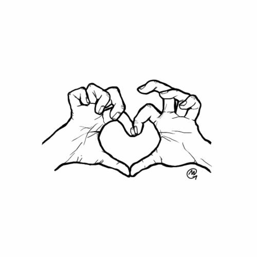 Love you - Maglietta Premium da uomo