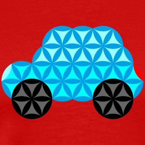 The Car Of Life - 01, Sacred Shapes, L/Blue. - Men's Premium T-Shirt