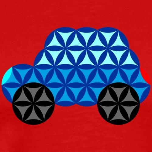 The Car Of Life - 01, Sacred Shapes, Blue. - Men's Premium T-Shirt