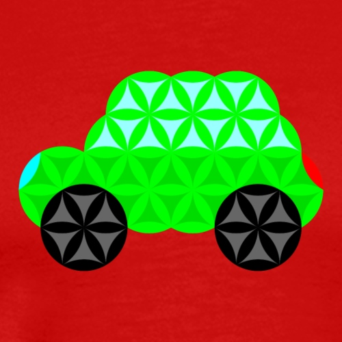 The Car Of Life - 01, Sacred Shapes, L/Green. - Men's Premium T-Shirt
