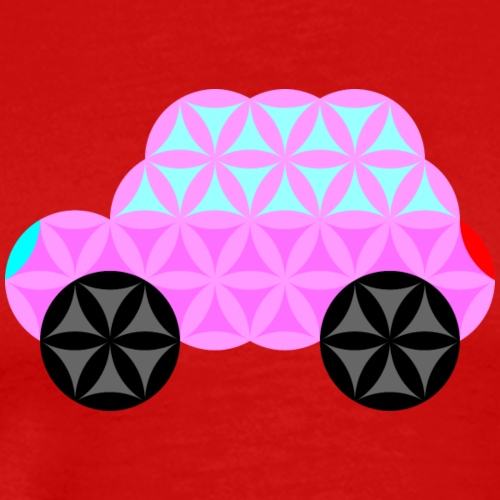 The Car Of Life - 01, Sacred Shapes, Pink. - Men's Premium T-Shirt