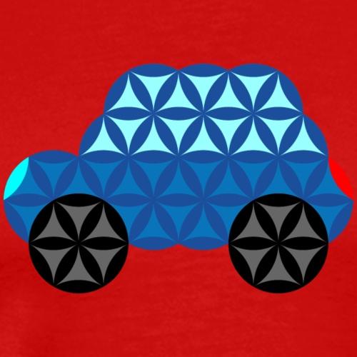 The Car Of Life - M01, Sacred Shapes, Blue/286 - Men's Premium T-Shirt