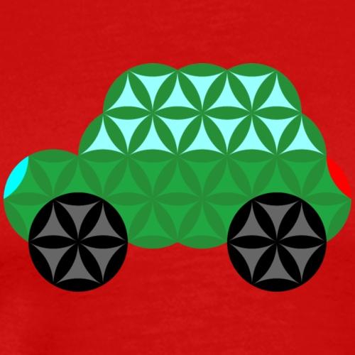 The Car Of Life - M02, Sacred Shapes, Green/363 - Men's Premium T-Shirt