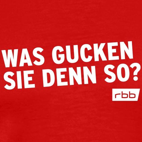 Was gucken Sie denn so? rbb (w) - Männer Premium T-Shirt