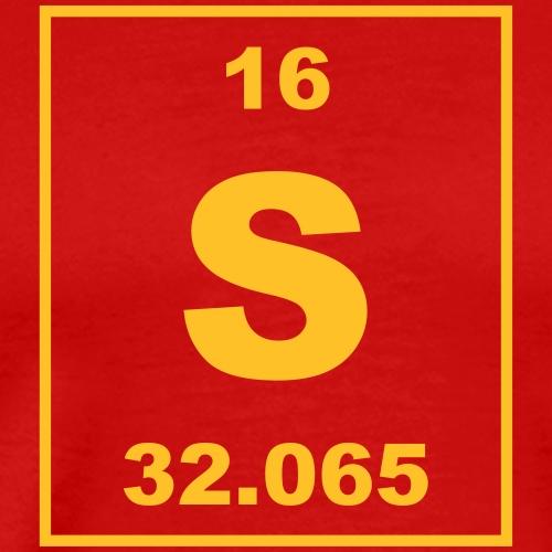 Sulfur (S) (element 16) - Men's Premium T-Shirt