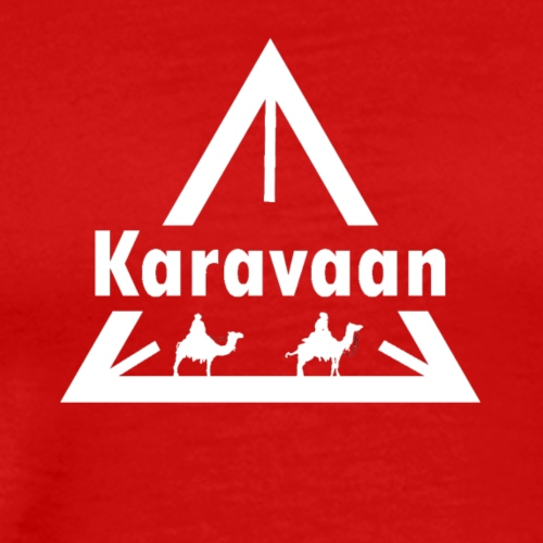 Karavaan White (High Res) - Mannen Premium T-shirt