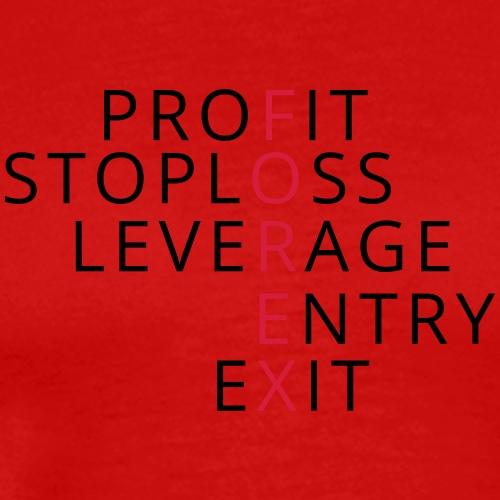 Forex-crossword-hor - Men's Premium T-Shirt