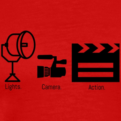 lights camera action - Men's Premium T-Shirt