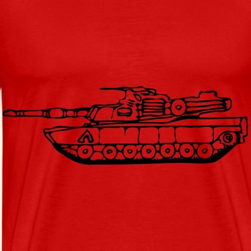 gezeichneter M1 Abrams Panzer - Männer Premium T-Shirt