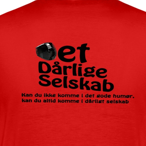 Det Dårlig Selskab Sort logo - Herre premium T-shirt