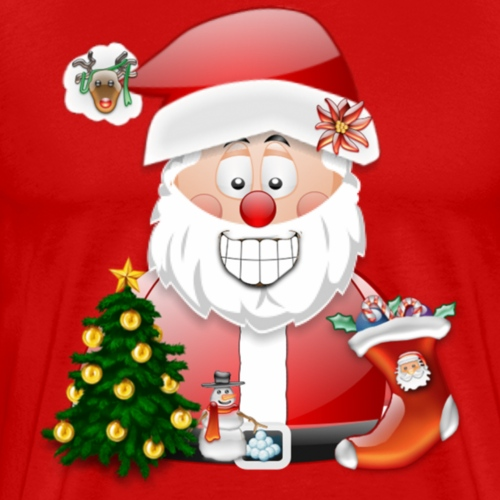 Father Christmas Scene 5 - Men's Premium T-Shirt