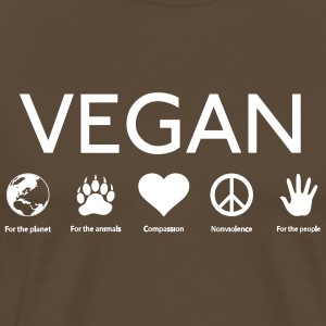 vegan shirt - Premium T-skjorte for menn