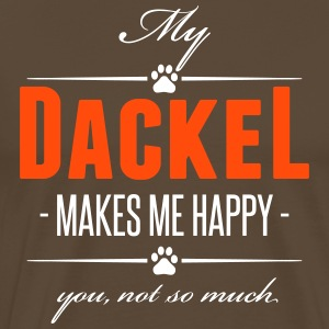 My Dackel makes me happy - Männer Premium T-Shirt