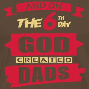 God Created Dads - Men's Premium T-Shirt