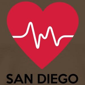Heart San Diego - Men's Premium T-Shirt