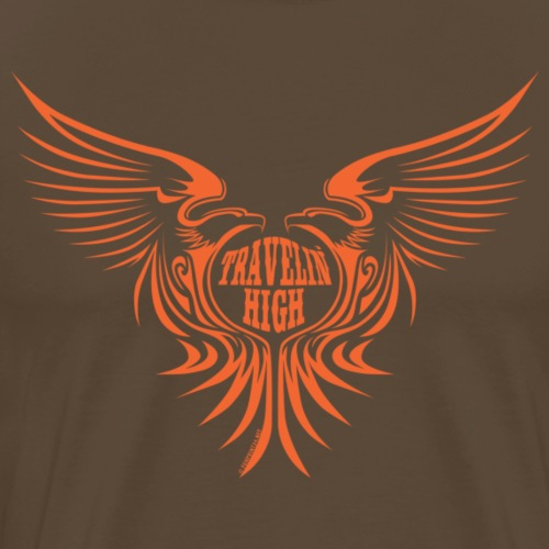 11A-04 TRAVELIN HIGH WINGS - Miesten premium t-paita
