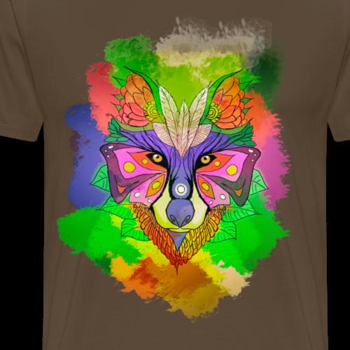Farben Wolf - Männer Premium T-Shirt