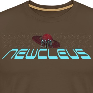Newcleus Wide Logo - Men's Premium T-Shirt
