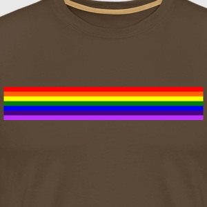 Band rainbow / rainbow bånd - Premium T-skjorte for menn