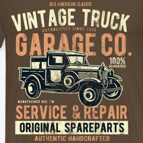 VINTAGE TRUCK- Vintage Pick Up Truck LKW Car Shirt - Männer Premium T-Shirt
