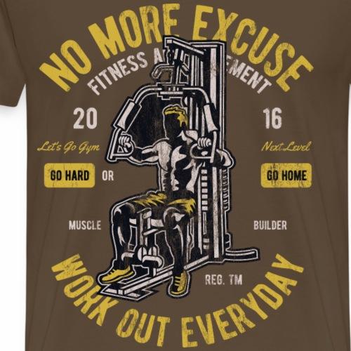 GO HARD - Workout Training Crossfit Gym Geschenk - Männer Premium T-Shirt