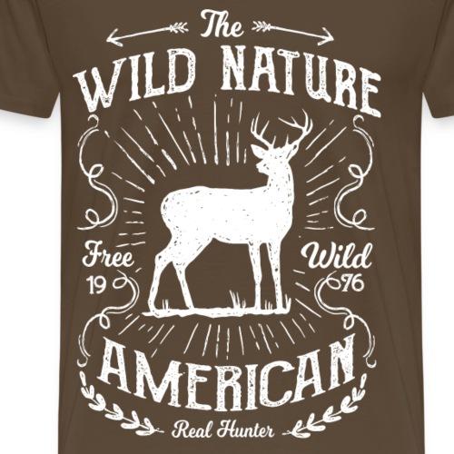 REAL HUNTER - Jäger Hunter Hunting Wildnis Shirt - Männer Premium T-Shirt