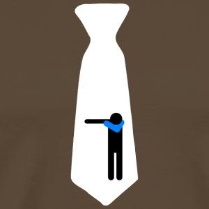 Dab Cravatta White / Kravatte/ Nectie/ Cravate - Maglietta Premium da uomo