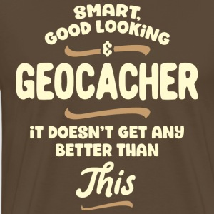 Smart, flot og geocacher ... - Herre premium T-shirt