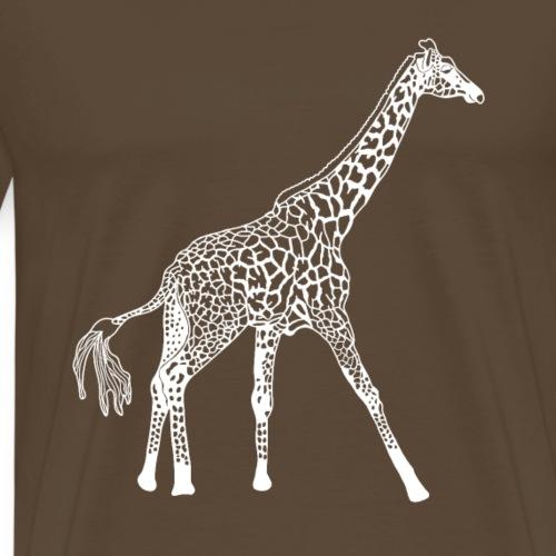 Giraffe weiß Struktur - Männer Premium T-Shirt