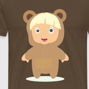 Child dressed as a teddy bear - Men's Premium T-Shirt