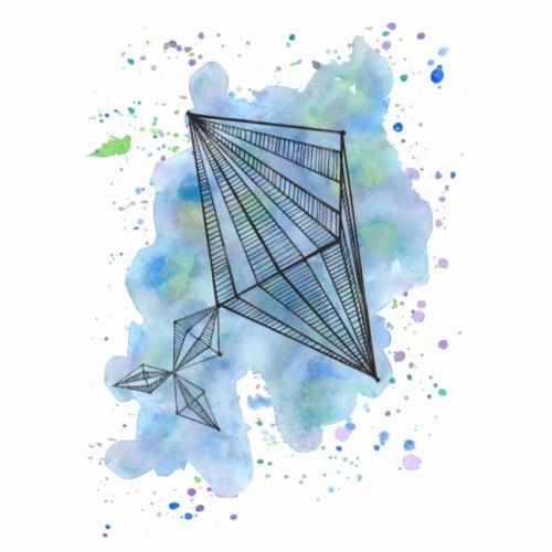 Pastel Triangle - Männer Premium T-Shirt