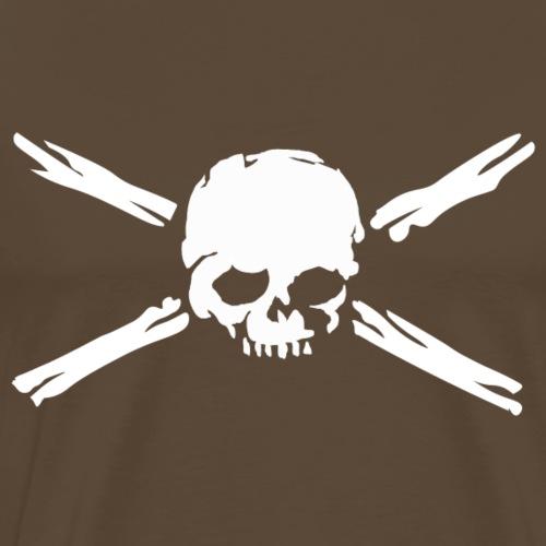 Calavera con huesos - Camiseta premium hombre