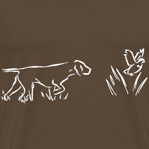 Seisoja - valkoinen - Miesten premium t-paita