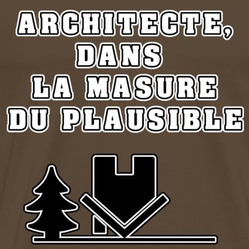 ARCHITECTE, DANS LA MASURE DU PLAUSIBLE - T-shirt Premium Homme