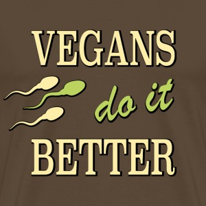 vegans do it better - Men's Premium T-Shirt