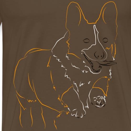 Welsh Corgi Cardigan - T-shirt Premium Homme