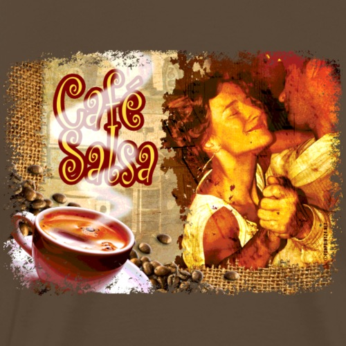 06-31 Cafe Salsa series - Miesten premium t-paita